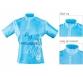 Dámský dres MTB modrý krátký zip L